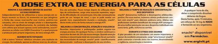 A Dose extra de energias para as celúlas